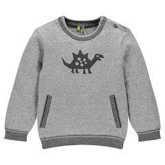 Trui in tricot dinosaurusprint