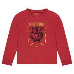 Junior - T-shirt met lange mouwen in jerseystof met tijgerprint