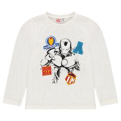 T-shirt met lange mouwen en print van ©Marvel Iron Man