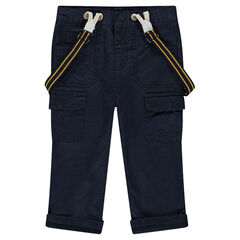 Pantalon en toile avec bretelles amovibles