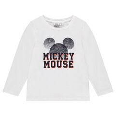 T-shirt met lange mouwen met print van Disney's Mickey