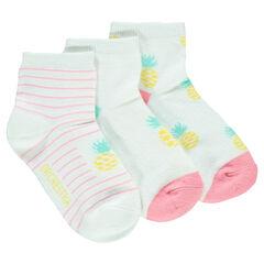 Lot de 3 paires de chaussettes ananas