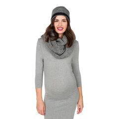 Set bonnet et écharpe en tricot fantaisie