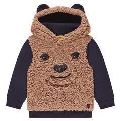 ©Paddington trui van sherpastof met kap en opgenaaide oren