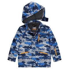 Junior - Ski-jas met microfleece voering en grafisch motief