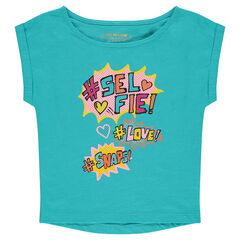 Shirt met korte mouwen met fantasieprint