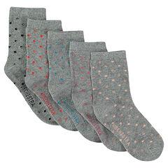 Lot de 5 paires de chaussettes à pois