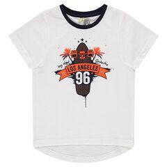 "T-shirt met korte mouwen en ""Los Angeles"" print"