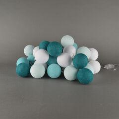 Cotton ball lights 20 pcs - Aqua
