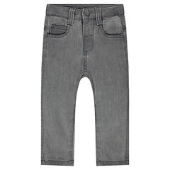 Sweatbroek met denim effect