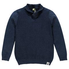 Trui in breiwerk in effen tricot