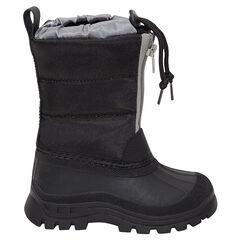 Gevoerde après-ski laarzen met ritssluiting en aantreklintjes