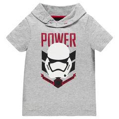 T-shirt korte mouwen met kap figuurtjeprint Star Wars