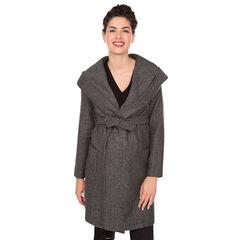 Manteau de grossesse en drap de laine