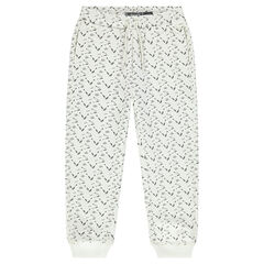 "Joggingbroek uit molton met print ""all-over"""