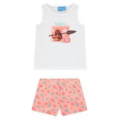Korte pyjama uit jerseystof met print van Disney's Vaiana