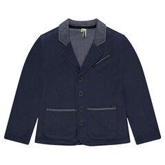Junior - Blazer en molleton piqué avec poches