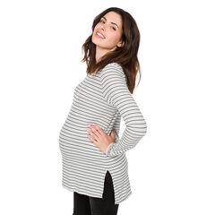Gestreept zwangerschapsshirt met lange mouwen