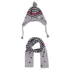 Setje Peruviaanse hoed sjaal met strepen