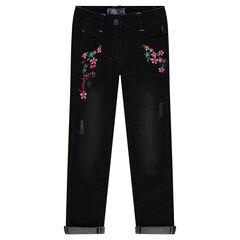 Geborduurde slim-fit jeans