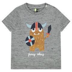 T-shirt met korte mouwen uit slub jerseystof met vikingprint