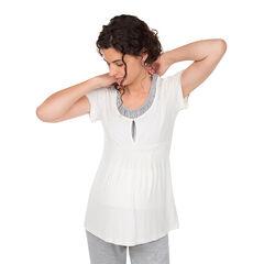 Shirt met korte mouwen en opdruk voor tijdens de zwangerschap en de borstvoeding