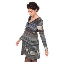 Robe de grossesse manches longues imprimée all-over