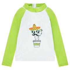Anti-uv t-shirt met lange mouwen en cactusprint