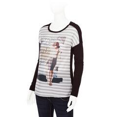 Zwangerschaps-T-shirt met lange mouwen en sublimatieprint