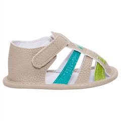 Sandalen met contrasterende riemen