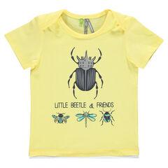 Tee-shirt manches courtes en jersey avec insectes printés