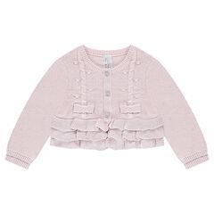 Cardigan van tricot met volants