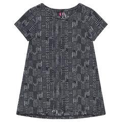 Junior - T-shirt met korte mouwen en etnische print