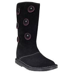 Laarzen in leder in zwarte kleur fantasiepatchs met studs
