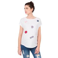 Tee-shirt manches courtes de grossesse à badges
