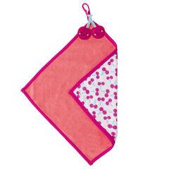 Doudou carré en coton éponge et jersey imprimé fruits