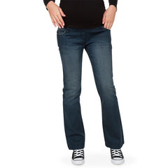 Jeans de grossesse effet used coupe bootcut