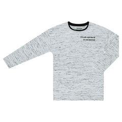Junior - Tee-shirt manches longues avec inscriptions printées