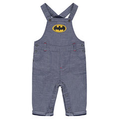 Salopette en coton fantaisie avec badge Batman