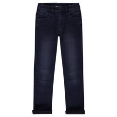 Junior - Slim fit jeans met used effect en plooien