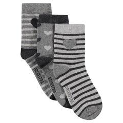 Lot de 3 paires de chaussettes imprimées fantaisie