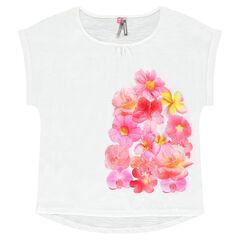 T-shirt met korte mouwen en sublimatiebloemenprint