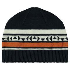 Bonnet en tricot avec motif jacquard
