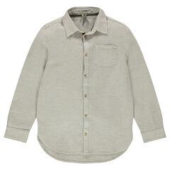 Junior - Chemise en coton fantaisie avec poche