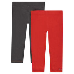 Set met 2 effen leggings