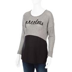 Sweatshirt voor tijdens de zwangerschap in effen strepen