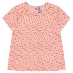 T-shirt met korte mouwen en met decoratieve bloemenprint