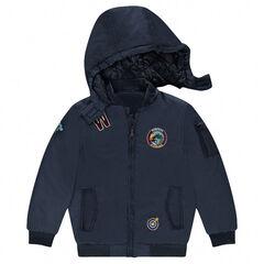 Junior - Jasje in bomberjackstijl met afneembare kap en badges