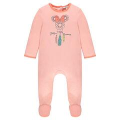 Pyjama uit jerseystof met print van Disney's Minnie met opening aangepast aan de leeftijd