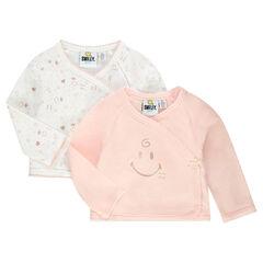 Set met 2 ©Smiley Baby topjes uit jerseystof